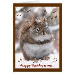 Singing Squirrel Birthday