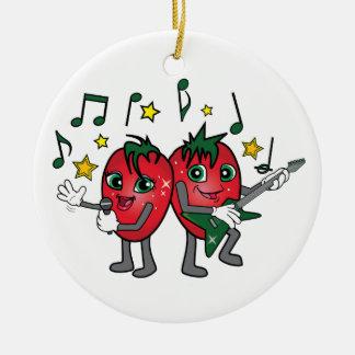 Singing Strawberries! Christmas Ornament