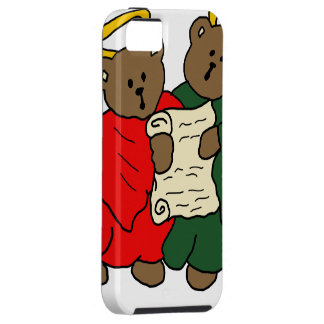 Singing Teddy Bear Angels in Red and Green robes iPhone 5 Case