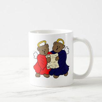 Singing Teddy Bear Angels Mugs