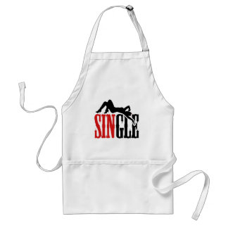 Single and Ready for Sin Adult Apron