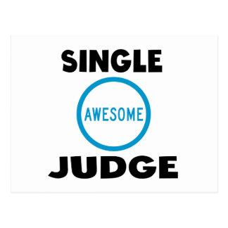 Single Awesome Judge Postcard