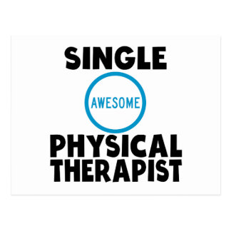Single Awesome Physical Therapist Postcard