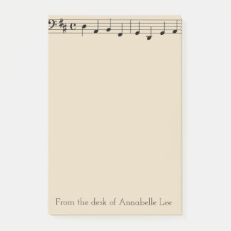 Single Bar of Music Post-it Notes
