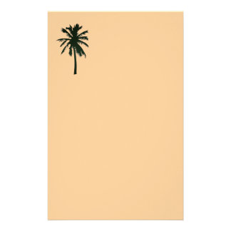 Single Black palm tree stationery