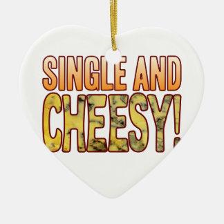 Single Blue Cheesy Ceramic Heart Decoration