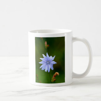 SIngle Blue Flower Classic White Coffee Mug