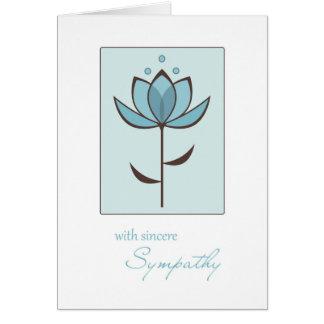 Single Blue Flower, Sincere Sympathy Greeting Card