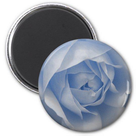 Single Blue Rose 6 Cm Round Magnet