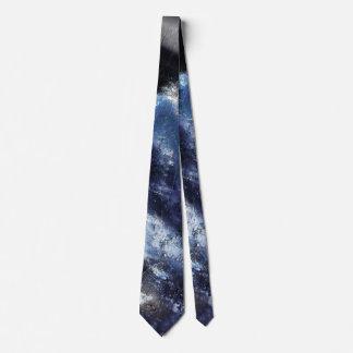 Single Blue Wave Neck Tie