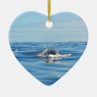 Single Bottlenose Whale Christmas Ornament