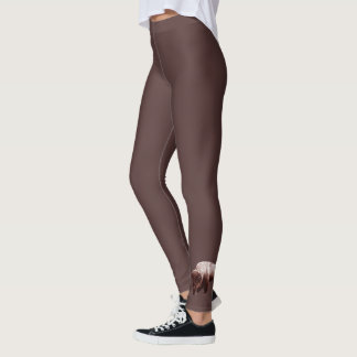 Single Brown Buffalo Leggings