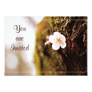 Single Cherry Blossom Tree Trunk Sakura Spring 13 Cm X 18 Cm Invitation Card