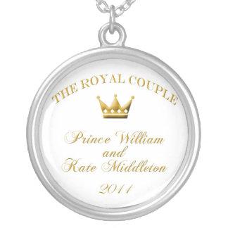 single crown white2 copy round pendant necklace