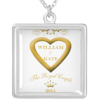 single crown white2 copy square pendant necklace