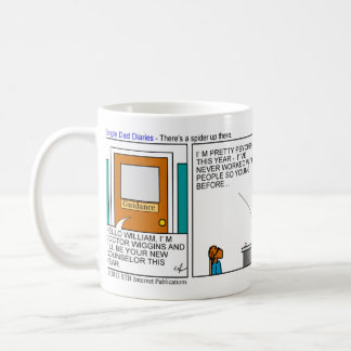 Single Dad Diaries - There's a spider up there Coffee Mug