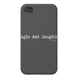 Single Dad Laughing -- Gray Background iPhone 4 Cases