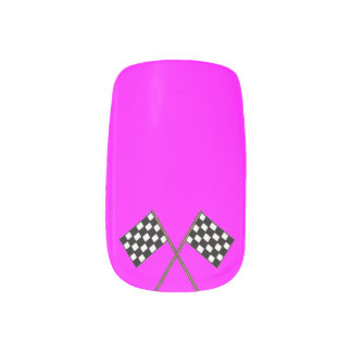 Single Design per Hand pink winner  by highsaltire Minx Nail Art