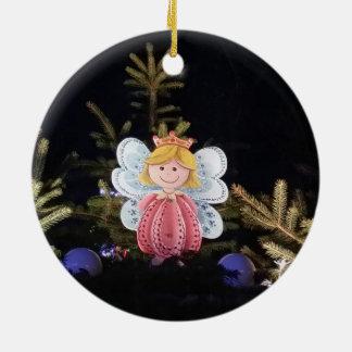 Single fairy christmas ornament