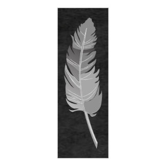 Single Feather  - Gray on Black Chalkboard Poster