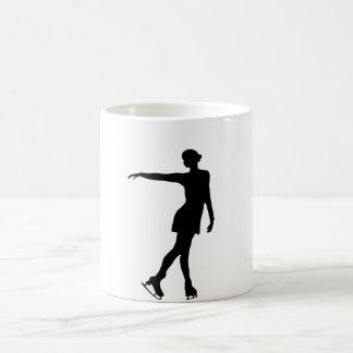 Single Figure Skater Black & White Morphing Mug