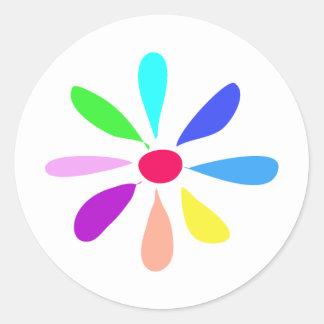 Single Flower Round Sticker