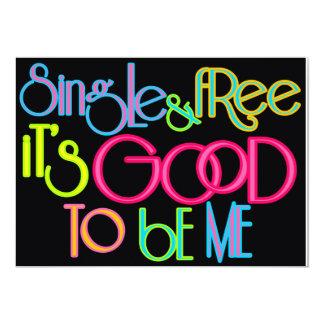 Single & Free 13 Cm X 18 Cm Invitation Card