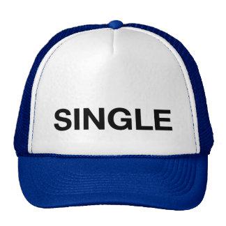 SINGLE fun slogan trucker hat