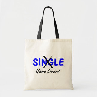 Single Game Over Blue Tote Bags