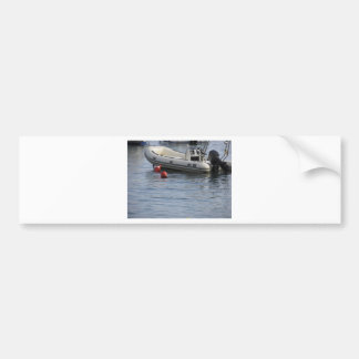Single inflatable dinghy with outboard motor bumper sticker