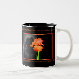 Single Iris Two-Tone Coffee Mug