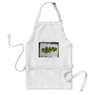 single isolated branch on white sheet aprons