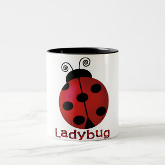 Single Ladybug Coffee Mug