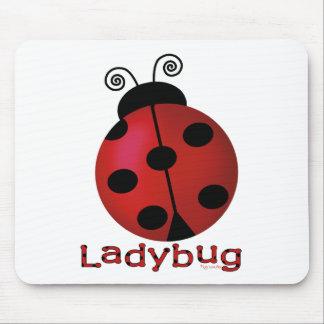 Single Ladybug Mouse Mat