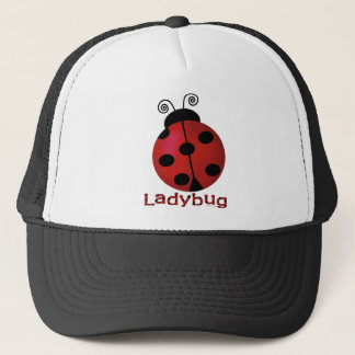 Single Ladybug Trucker Hat