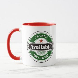 Single & Like Beer Mug