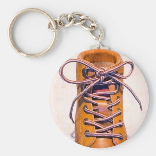 Single male shoe basic round button key ring