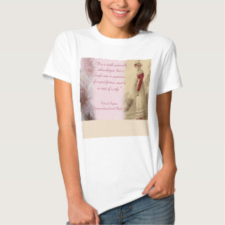 Single Man, Pride and Prejudice Jane Austen Tshirts