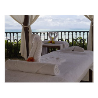 Single Massage Table Postcard