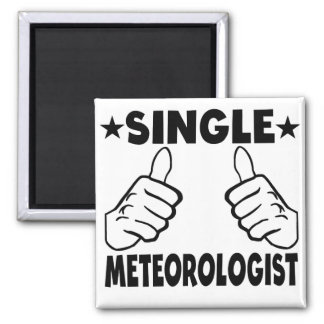 Single Meteorologist Square Magnet
