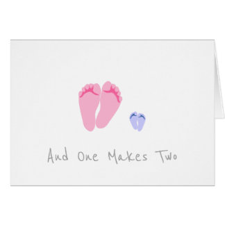 Single Mum New Baby Boy - And One Makes Two Card
