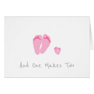 Single Mum New Baby Girl - And One Makes Two Card