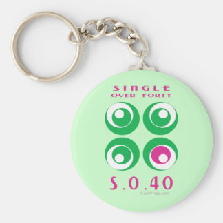 Single Over 40 (So40) Keychain