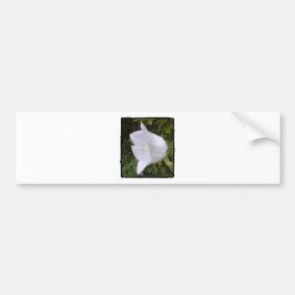 Single Pale Flower Bumper Sticker