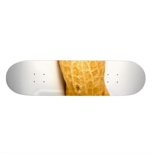 Single Peanut On White Background 20 Cm Skateboard Deck