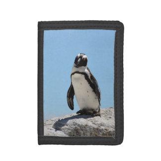 Single Penguin Photo Tri-fold Wallets
