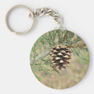 Single Pine Cone Keychain
