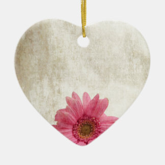 Single Pink Ceramic Heart Decoration