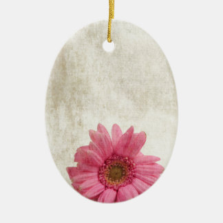 Single Pink Ceramic Oval Decoration