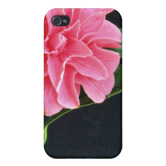 Single Pink Flower flowers iPhone 4 Covers